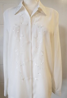 Embroidered Blouse - Cream
