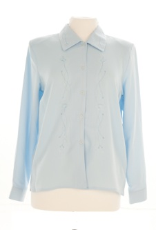 Nicole Lewis Long Sleeve Blouse - Blue