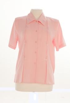 Nicole Lewis Short Sleeve Blouse - Pink