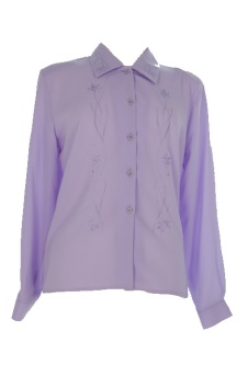 Nicole Lewis Long Sleeve Blouse - Lilac