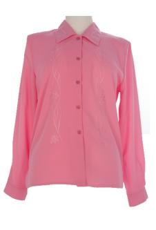 Nicole Lewis Long Sleeve Blouse - Pink II