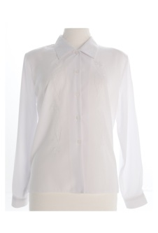 Nicole Lewis Long Sleeve Blouse - White II