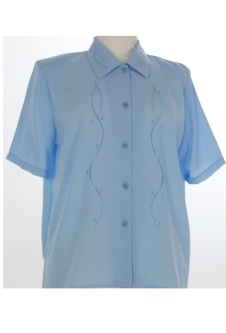 Nicole Lewis Short Sleeve Blouse - Blue