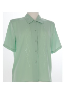 Nicole Lewis Short Sleeve Blouse - Green
