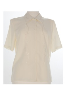 Nicole Lewis Short Sleeve Blouse - Cream II
