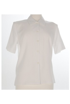 Nicole Lewis Short Sleeve Blouse - White II
