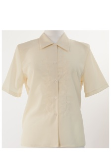 Nicole Lewis Short Sleeve Blouse - Lemon