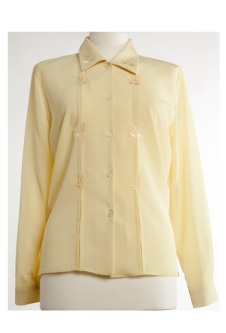 Nicole Lewis Long Sleeve Blouse - Lemon