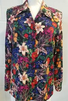 Nicole Lewis L/S Blouse - Multi Floral design