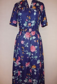 Nicole Lewis Short Sleeve Dress - Navy/Pink Floral