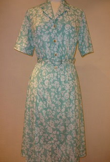 Nicole Lewis Mint Green White Floral Dress