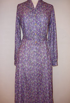Nicole Lewis Floral Dress L/S - Plum/Lilac