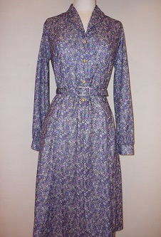 Nicole Lewis Floral Dress L/S - Lilac/Blue