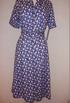 Nicole Lewis Shirt Dress - Navy/White Floral II