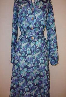 Nicole Lewis Shirt Dress w/ collar - Blue Multi