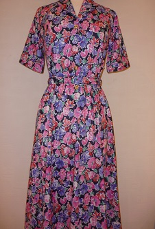 Nicole Lewis Shirt Dress with belt - Navy Floral
