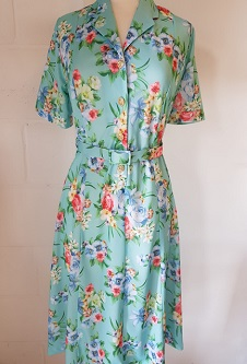 Nicole Lewis Short Sleeved Dress - Turquoise Floral