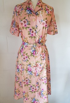 Nicole Lewis Short Sleeved Dress - Peach Floral