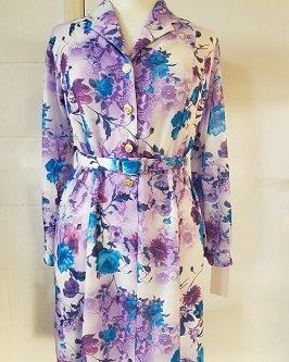 Nicole Lewis Long Sleeve Dress - Lilac Floral