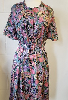 Nicole Lewis Sweetheart Neck Dress - Multi Paisley