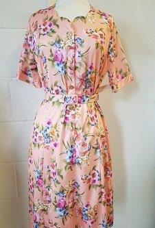 Nicole Lewis Sweetheart Neck Dress - Peach Floral