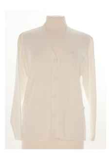 Nicole Lewis Embroidered Cardigan - White