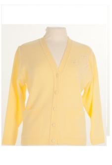 Nicole Lewis Embroidered Cardigan - Lemon