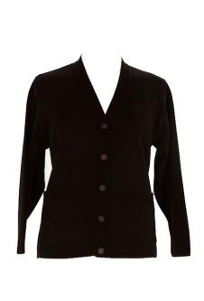 Nicole Lewis Embroidered Cardigan - Black