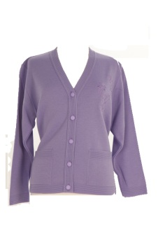 Nicole Lewis Embroidered Cardigan - Lilac