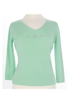 Nicole Lewis Sequin Top III - Mint Green