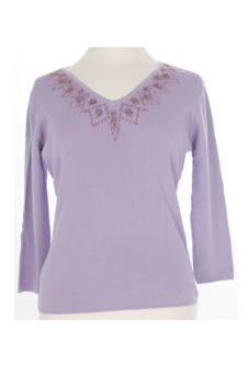 Nicole Lewis Sequin Top IV - Lilac