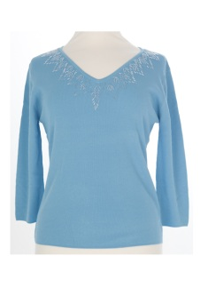 Nicole Lewis Sequin Top IV - Blue