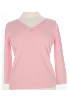 Nicole Lewis Sequin Top V - Pink