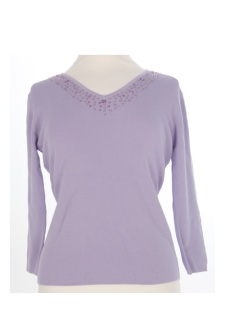 Nicole Lewis Sequin Top V - Lilac