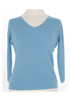 Nicole Lewis Sequin Top VI - Blue