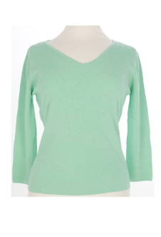 Nicole Lewis Sequin Top VI - Mint Green