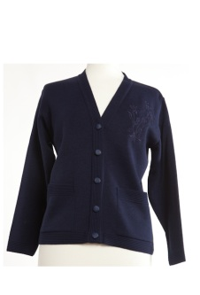 Nicole Lewis Embroidered Cardigan - Navy Blue
