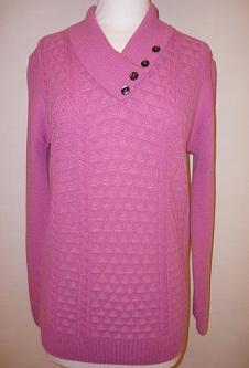 Nicole Lewis 4 Button Collar Jumper - Pink