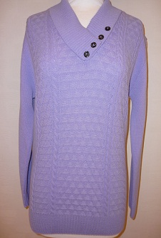 Nicole Lewis 4 Button Collar Jumper - Lilac