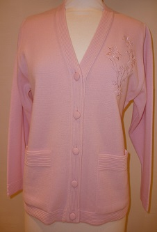 Nicole Lewis Embroidered Cardigan - Pale Pink