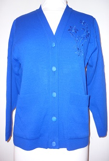 Nicole Lewis Embroidered Cardigan - Royal Blue