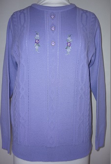 Nicole Lewis Embroidered Jumper III - Lilac