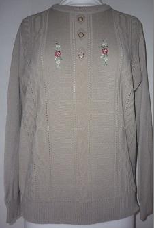 Nicole Lewis Embroidered Jumper III - Beige