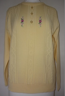 Nicole Lewis Embroidered Jumper III - Lemon