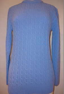 Nicole Lewis Cable Jumper - Blue