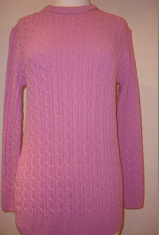 Nicole Lewis Cable Jumper - Pink