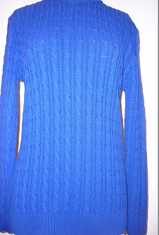 Nicole Lewis Cable Jumper - Royal Blue