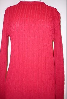 Nicole Lewis Cable Jumper - Red