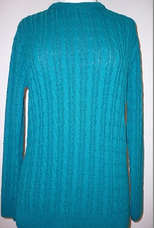 Nicole Lewis Cable Jumper - Jade Green