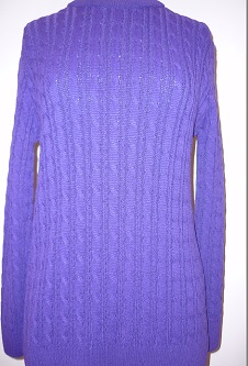 Nicole Lewis Cable Jumper - Purple